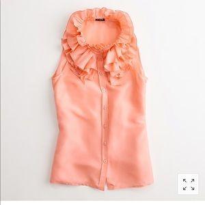 J Crew silk blouse size 12 salmon Career sleeveles